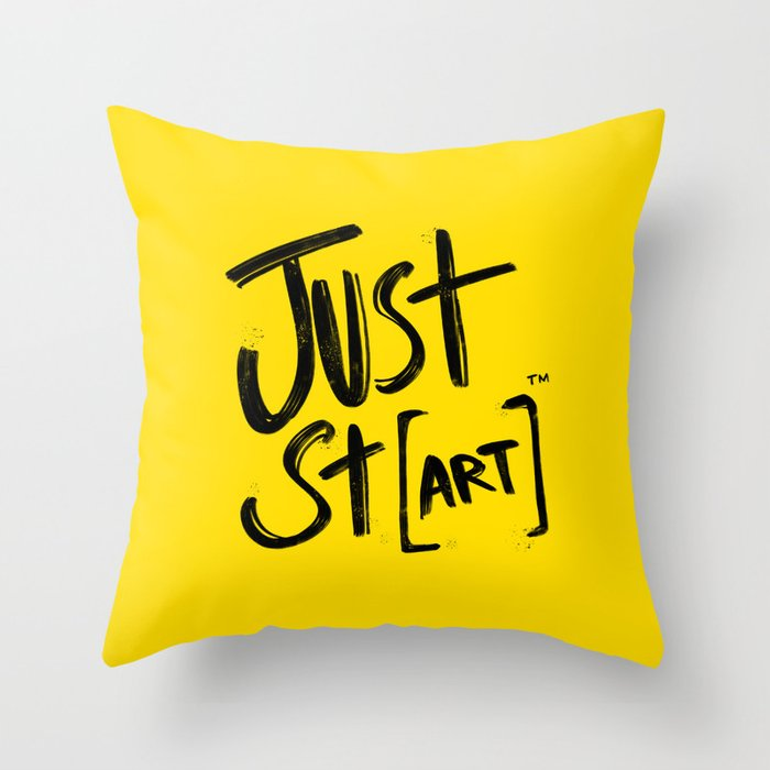 JUST ST[art]™ Throw Pillow