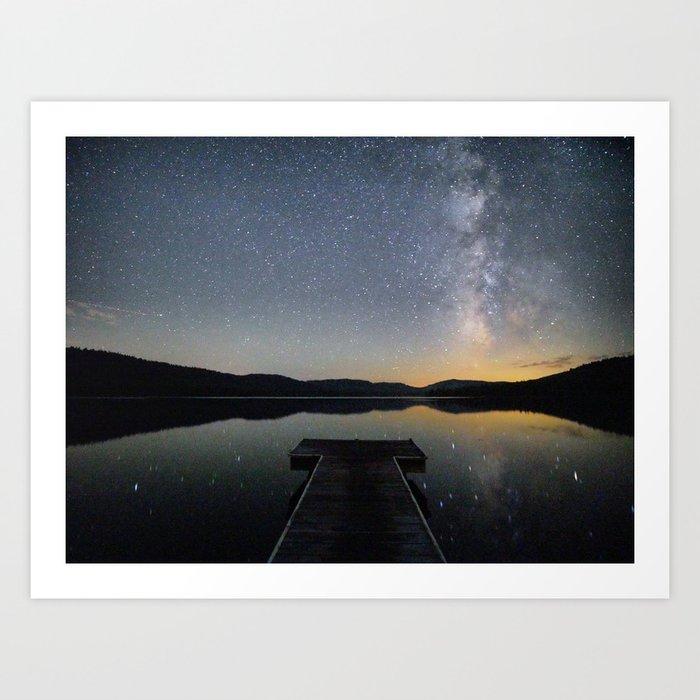 Milky Way in Truckee, CA Art Print