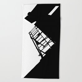 New York Fire Escape Beach Towel