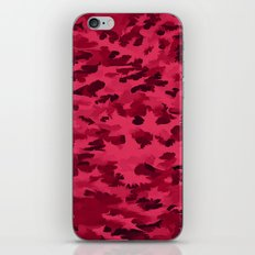 Foliage Abstract Pop Art Blush Red iPhone & iPod Skin