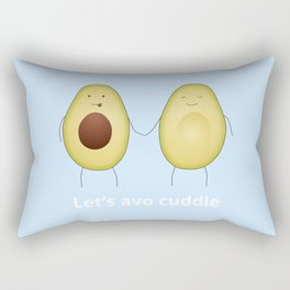 Let's avo cuddle | Blue Rectangular Pillow