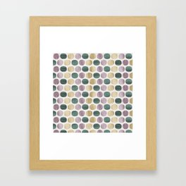 Colorful dots pattern Framed Art Print