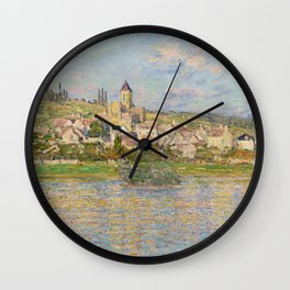 Vetheuil by Claude Monet Wall Clock