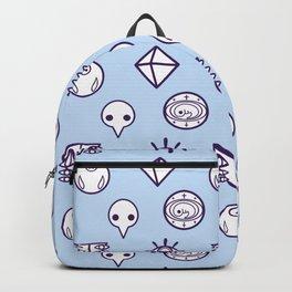 evangelion nerv angels pattern ayanami rei blue Backpack