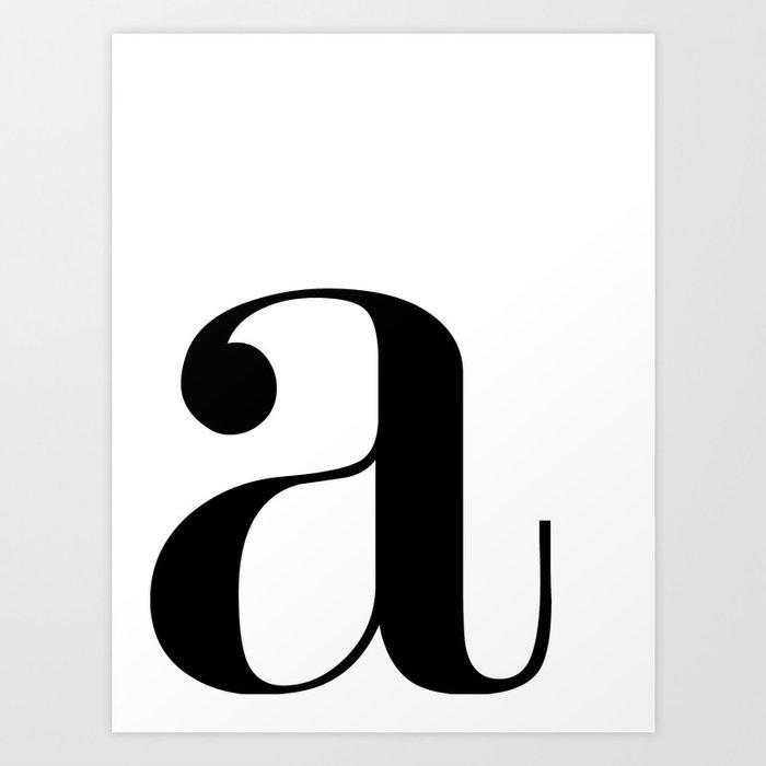 "Monogram Series Letter ""a""  Kunstdrucke"