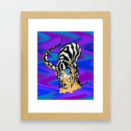 Octopus Hijack Framed Art Print