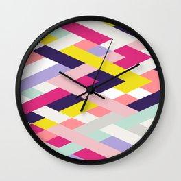 Smart Diagonals Blue Wall Clock