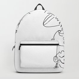Sneakers simple minimal one line art, hanging shoes branded shoes  Backpack