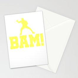 Funny Ping Pong Table Tennis Player Shirt Bam Stationery Cards