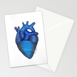 Blue heart. Stationery Cards
