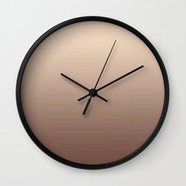 RoseGold Stripes Wall Clock
