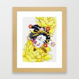 Japanese Namakubi Flowers Framed Art Print