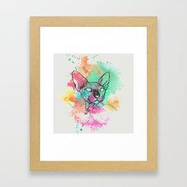 Watercolor Sphynx Framed Art Print