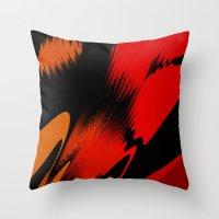 splatter Throw Pillows featuring Splatter by ArtsandStyles
