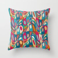psychedelic Throw Pillows featuring Psychedelic by Helene Michau
