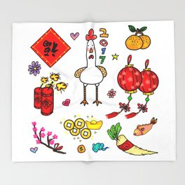 Chinese New Year 2017 Throw Blanket