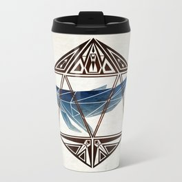 whale in the icosahedron Travel Mug