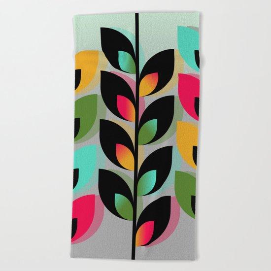 Joyful Plants III Beach Towel