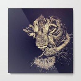 Faded Tiger Metal Print