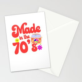 Made In The 70's Hippie Peace Sign Stationery Cards