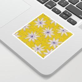 sema yellow violet Sticker