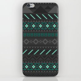 Gray and Blue Pattern iPhone Skin
