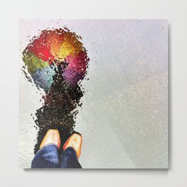 Rainbow Umbrella Metal Print