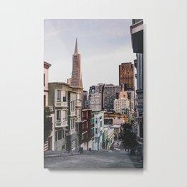 San Francisco Hills Metal Print