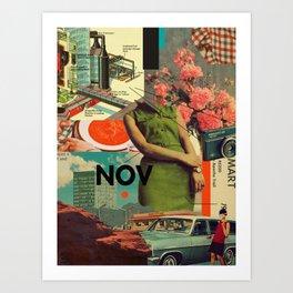NOVember Art Print