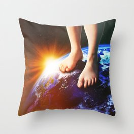 Barefoot Throw Pillow