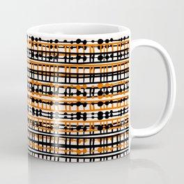 Abstract Net - Orange Black Coffee Mug