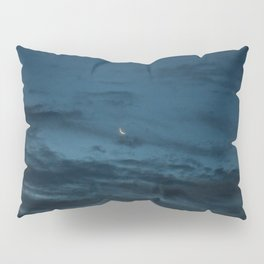 Morning Moonrise: Crescent in the Clouds Pillow Sham