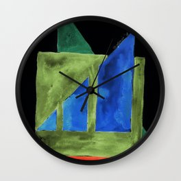 180818 Inverted Geometrical Watercolour 2| Colorful Abstract | Modern Watercolor Art Wall Clock