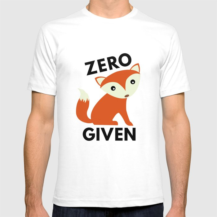 c8cef9a66 Zero Fox Given T-shirt by vectorplanet | Society6