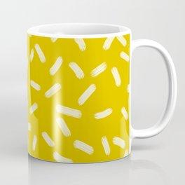 Mustard Yellow Brush Strokes Coffee Mug