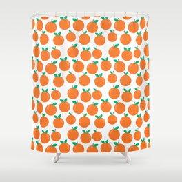 Oranges - sweet fruit summer fresh vegan vegetarian juicing cleanse art print home office decor Shower Curtain