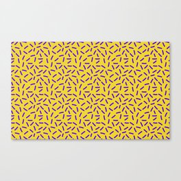 Shiny Yellow Memphis Canvas Print