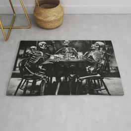 Six Skeletons Smoking Rug