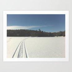 Skidoo on lake Art Print