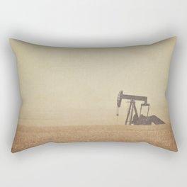 Digging for Black Gold Rectangular Pillow
