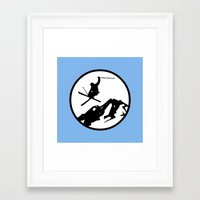 skiing Framed Art Prints featuring Skiing by Paul Simms