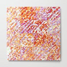 Orange & Lavender Delight - Squares Metal Print