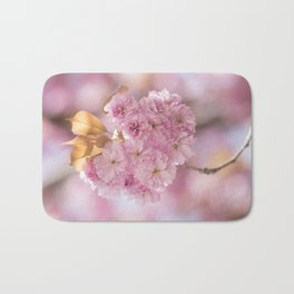 Japanese Cherry Blossom in LOVE Bath Mat