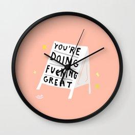 life is hard sometimes Wall Clock