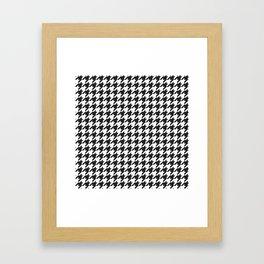 Black and white houndstooth pattern Framed Art Print