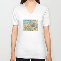 cuba V-neck T-shirts featuring Cuba by Sahily Tallet Yip
