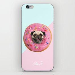 Pug Strawberry Donut iPhone Skin