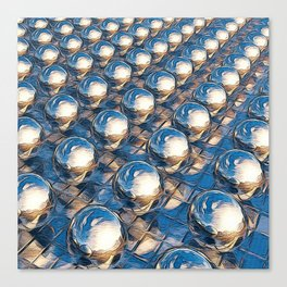 Abstract Spheres In A Row Canvas Print