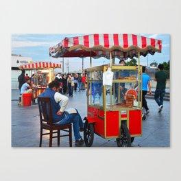 Pretzel Cart - Istanbul, Turkey Canvas Print