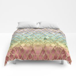 Rainbow Mermaid Scales Comforters